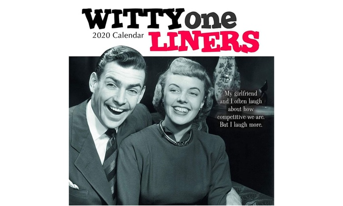 wall calendar month funny quotes witty one liners