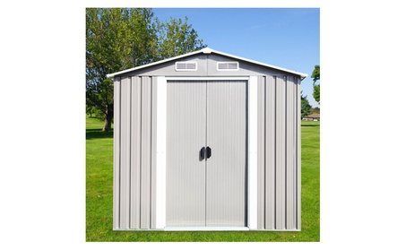 New 4' x 6' Outdoor Steel Garden Storage Utility Tool Shed Backyard 363c8406-55e9-493b-a13a-8e0c5ae675f3