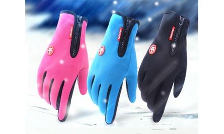 Neoprene Touch Screen Gloves with Zip 56c9fab1-13d6-4b1f-b64e-84900cb9c704