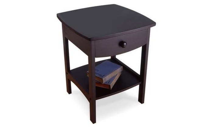 Charming InternationalLevi: Curved Nightstand / End Table ...