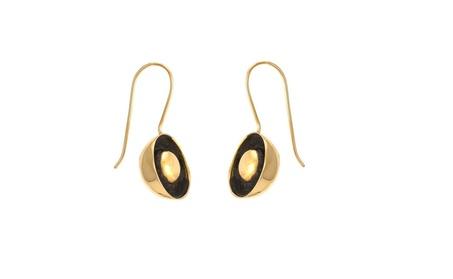 Handmade oxidized brass dangling earring 1f4c586b-3434-4873-aee4-45da64953727