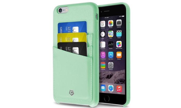 new concept f6f50 fa244 Cobble Pro Mint Green Leather Card Back Case For iPhone 6 6s Plus 5.5