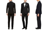 Verno Mens Notch Lapel Tuxedos in Classic or Slim Fit (2-Piece)