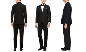 Verno Men's Notch Lapel Tuxedos in Classic or Slim Fit (2-Piece)