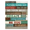 "Dax Manufacturing Inc. Motivational Poster, 16 X 20, ""Never Give Up"""