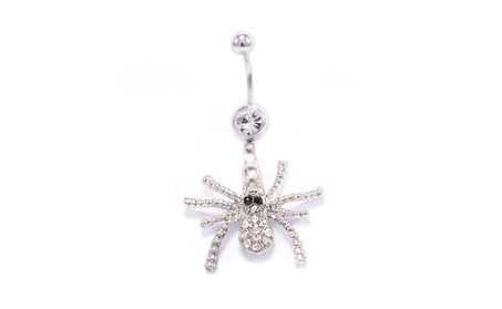 Spider Design 14G 316L Surgical Steel Dangle Belly Button Ring 07057501-4b39-4389-b958-78e27ac1265c