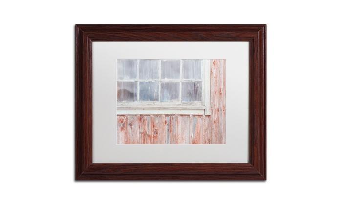 Cora Niele \'Little Windows II\' Matted Wood Framed Art   Groupon