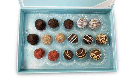 Sugar Free Luxury Belgian Chocolate Truffles Gift Box Mother Fathers Day 16 Pcs