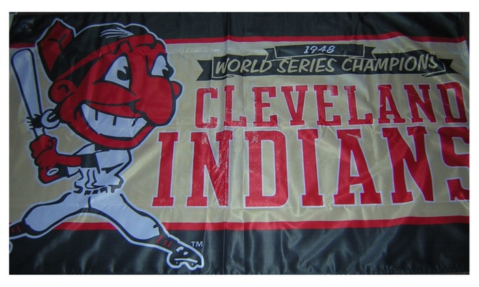check out bfcdc 3ee73 Cleveland Indians 1948 Championship 3x5 Flag