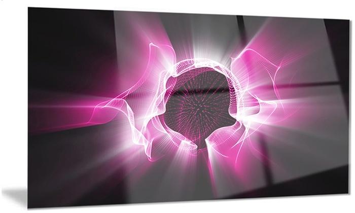 Fractal Purple Light Shine Abstract Metal Wall Art 28x12 | Groupon