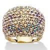 Aurora Borealis Crystal Ring 14k Gold-Plated