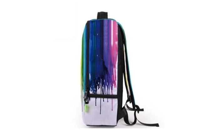 School Backpack for Teens Boys Girls 3D Print Galaxy Book Bag