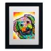 Dean Russo 'Daisy' Matted Black Framed Art