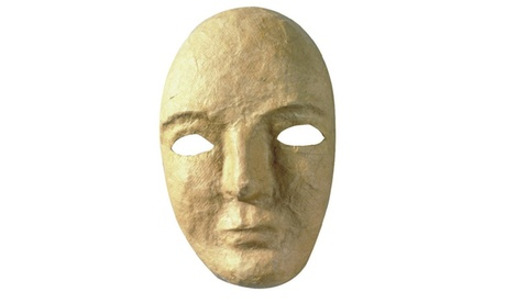 Paper Mache Mask (pack of 12) 599b5578-2aad-4bbe-a571-02743293f805