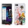 Insten Flower Hard Rubber Case For BlackBerry Z10 Colorful