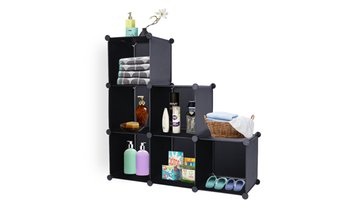 6/9 Cube Closet Organizer Storage Shelves DIY Plastic Cabinet Book Shelf