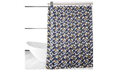Image placeholder image for MULTI COLORED CHEVRON SHOWER CURTAINShower Curtains   Liners   Deals   Coupons   Groupon. Blue And Silver Shower Curtain. Home Design Ideas