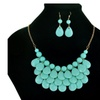 Fashion Floating Bubble Necklace Teardrop Bib Collar Statement Jewelry