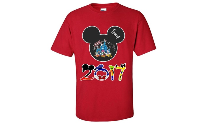 DDLE: Disney Family Vacation 2017 Mickey and Minnie Matching T-Shirts