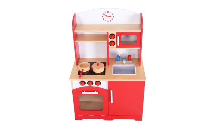 Off On Wood Kitchen Toy Kids Cooking
