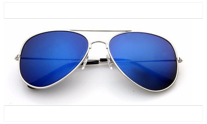 Aviator Sunglasses with Silver Frame