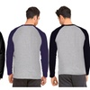 Long Sleeve Breathable Cotton Baseball Shirt (Active or Casual)