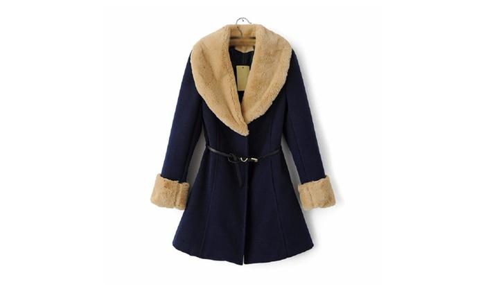 Trendy Belted Long Sleeve Coat