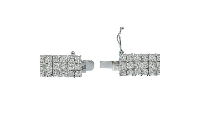 1 00 Carat Diamond Miracle Set 3 Row Tennis Bracelet Groupon