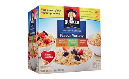 Quaker Instant Oatmeal Variety, 52 ct 9efe9315-3b9f-442d-bddf-4db6d23744c4