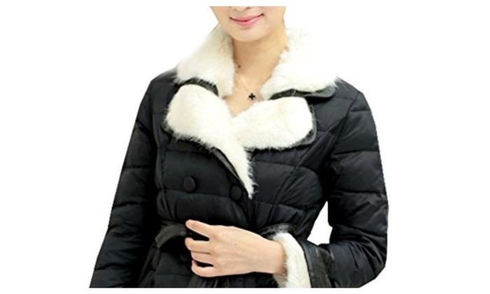 Fecland Women's Winter Fashion Slim Windproof Casual Down Coats