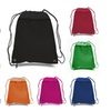 (12 Pack) BagzDepot Polyester Drawstring Bags w/ Front Zipper Pocket