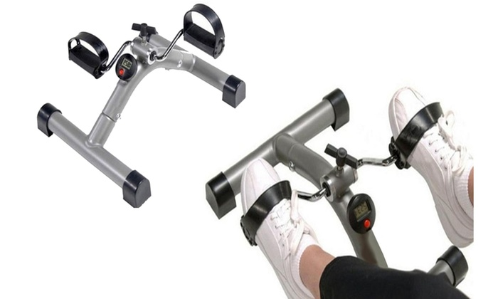 Portable Folding Exercise Bike That Sits On A Tabletop Or On The Floor