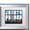 Philippe Hugonnard 'Empire State Building View' Silver Framed Art