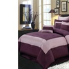 Bed in a Bag 3170 R-T 8 Piece Luxury Comforter Set Purple - Wendy