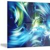 Green and Blue Shine Metal Wall Art 28x12