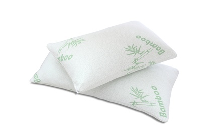 Luxury Home Memory Foam Bamboo Pillows (2-Pack)
