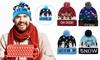 Unisex Christmas LED Hat Beanie Knit Cap Light Up Xmas Cap Santa Christmas Party