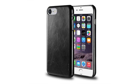 Insten Rear Leather Slim Hard Case Protective Cover for iPhone 7 or...