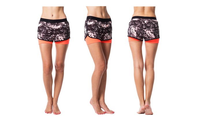 ELECTRA Women's Double Layer Active Shorts Slim Fit