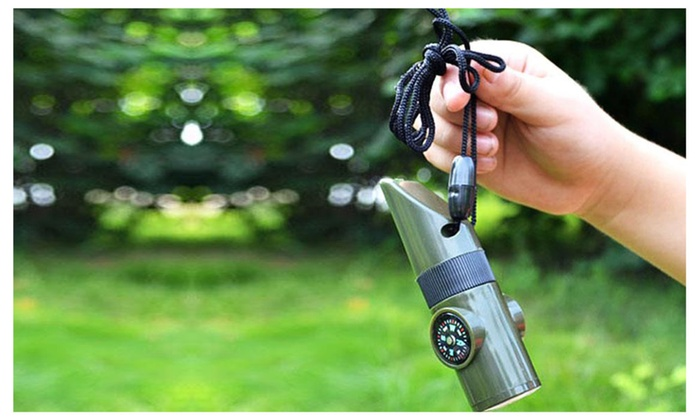 7-in-1 Survival Whistle Tool