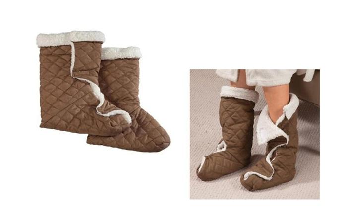 Soft Slippers Piggy Snuggler Slipper Shoes Heatin Foot Warmer