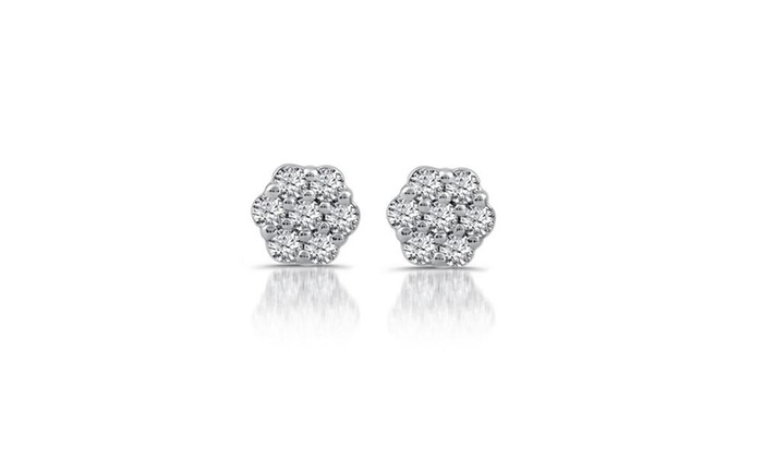 a43eb83b2 1/4 CTTW Diamond Composite Stud Earrings In Sterling Silver by DeCarat