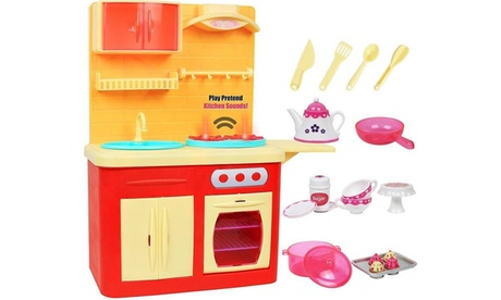 Click N' Play 22 Piece, 18 in Doll Kitchen Play Station with Accessories 680fc731-ff9e-4f28-9c47-c3f7d98db6e1