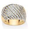 1.88 TCW Round Cubic Zirconia 14k Yellow Gold-Plated Diagonal Row Band