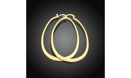 French Lock Hoop Earrings in 14K Gold Plated Was: $69.99 Now: $8.99