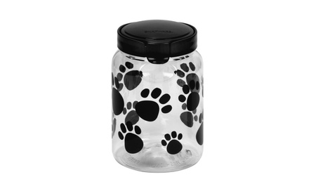 New Pet Canister 9.8 Cup Dark Grey Paw 76ee3c68-23e3-407a-ab17-7e35937bd048