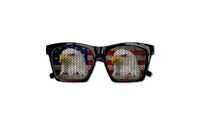 dbbb91f53a33 Unisex American Eagle Flag Visual Mesh Sunglasses Fun For Party ...