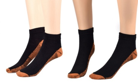 QPower Premium New Copper-Infused Compression Crew Socks (3-Pairs) 9a9ba8ed-fccc-40f8-b846-6cf57b042c8d