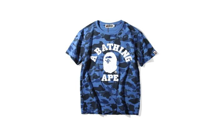 afe7fab5 A Bathing Ape Bape Ultimate 1st Camo College Logo Tee Shirt | Groupon