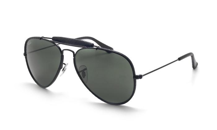 ff43307eff Ray Ban Outdoorsman RB3422Q 9040 Black Frame   Green Classic G-15 Lens
